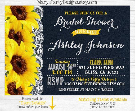 Best 25 Sunflower bridal showers ideas on Pinterest Bridal