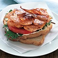 Healthy food of the day!!!! Salmon BLT!!!  ... #food #healthy #yum