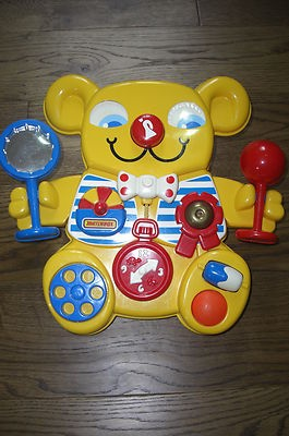 Matchbox big yellow bear cot toy / baby activity centre 1980s retro vintage EX.C | eBay