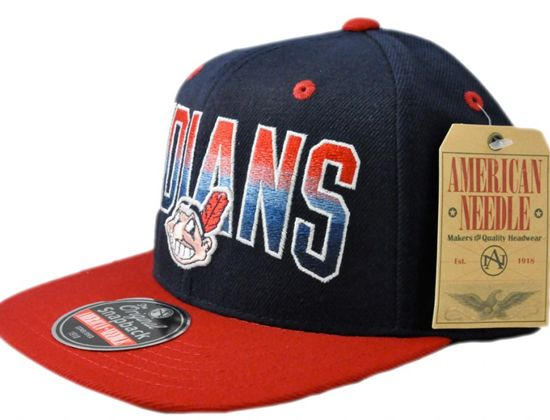 "AMERICAN NEEDLE x MLB ""Cleveland Indians"" Snapback Cap"