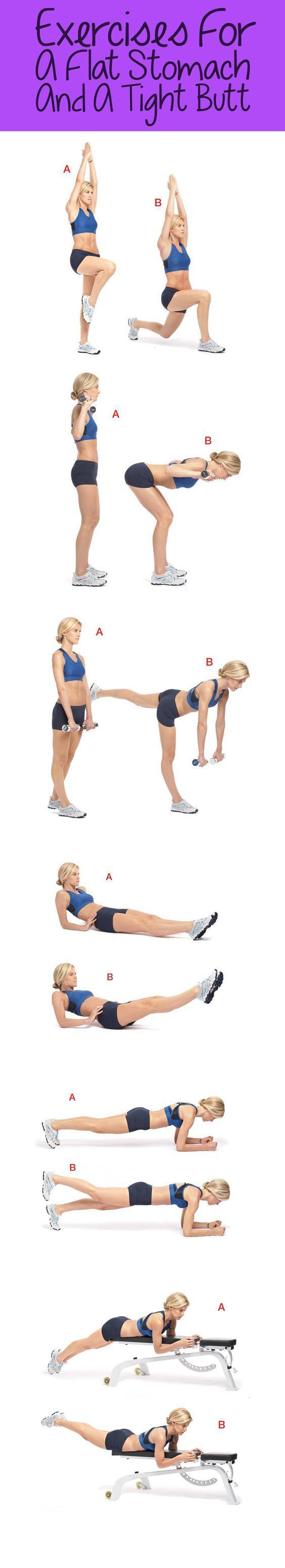 exercises for a flat stomach and a tight butt #weightloss #loseweight #weightlossworkout #buttworkout #exercise #strong #fitness #flatbelly