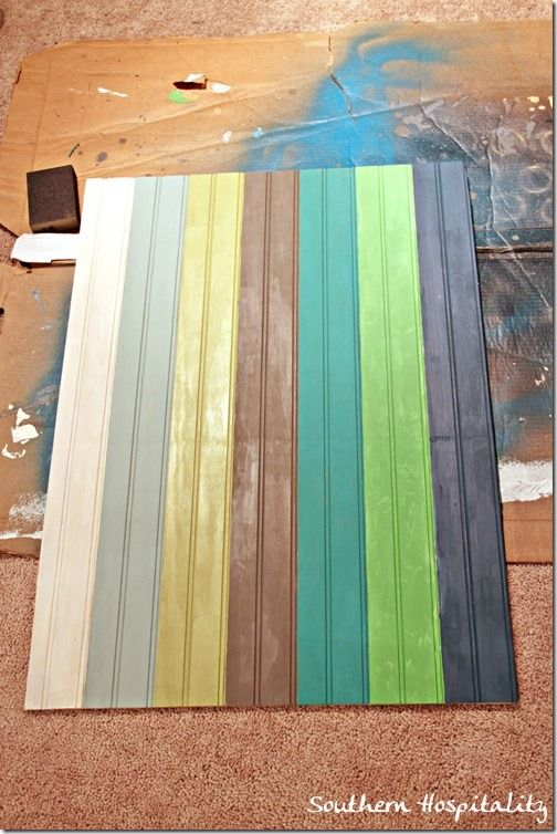 Painted Beadboard Wood Recycled And Pallet Projects