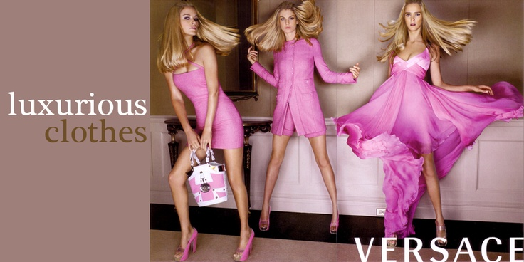 On line store in women clothes,Versace,  Valentino,Galliano