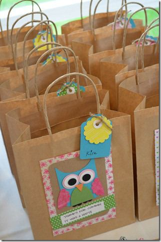 owl party gift bags