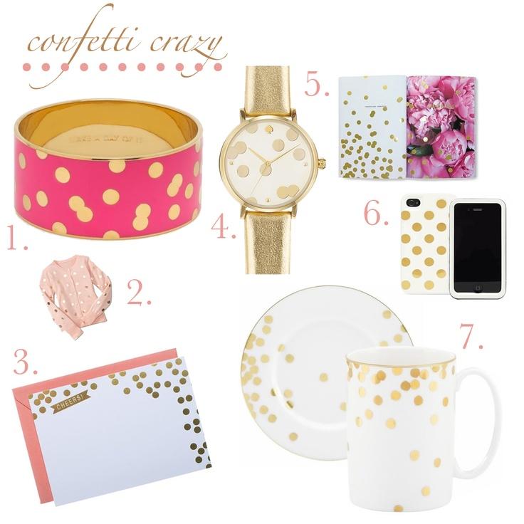 Kate Spade Confetti Crazy #gold