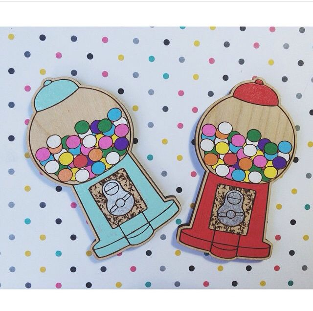 Gum ball brooches. Made by deer arrow. Brooch. Lollies. Gum. Vintage. 50's. www.deerarrow.com