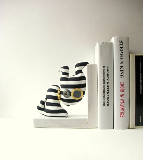 Daniele the dog  bookend  fiber art  ooak soft by fattidame, €25.00