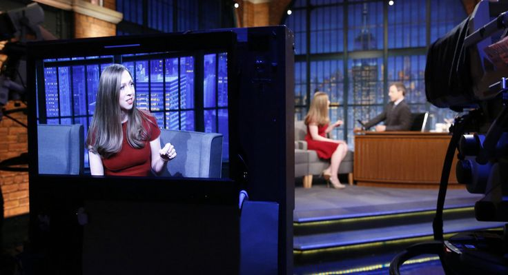 """Chelsea Clinton on """"Late Night with Seth Meyers,"""" Oct. 5 Chelsea Clinton gave birth to a son this weekend. Unfortunately, due to his young age, he's a Sanders supporter. (Seth Meyers, June 20)  (Getty)"""