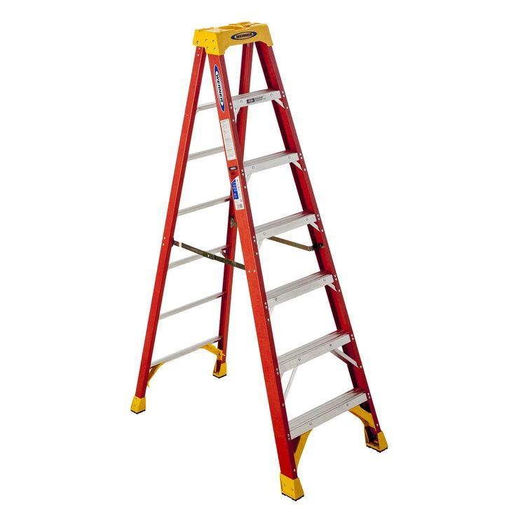 Werner 6207 7' 300 Lb Limit Fiberglass Step Ladder