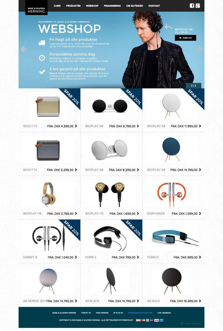 Bang & Olufsen Herning webshop - kategoriside