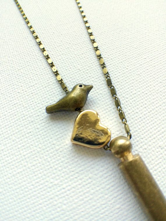 Brass Whistle Necklace // Bird Whistle by PERCIVALandHUDSON