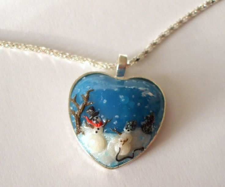 Snowman robbery nacklace Funny winter jewel Gift for christmas Gift for her Gift for girl Handmade Polymer clay pendant by dorijewelnook on Etsy