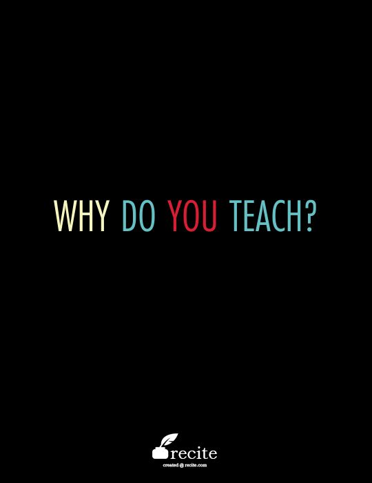 Each educator is motivated to teach for different reasons. What questions propel your journey as a learner and educator?
