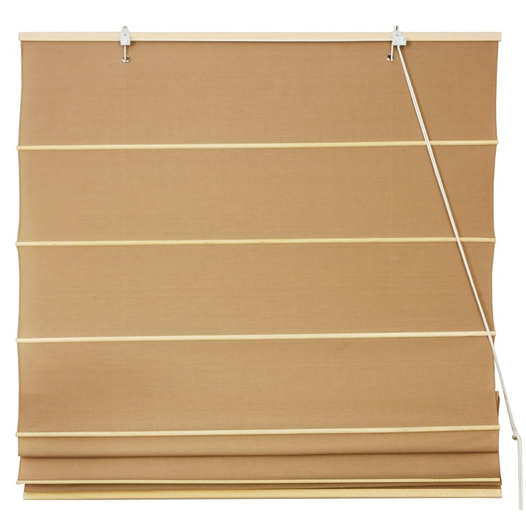 Oriental Furniture Cotton Roman Shades Blinds In Light Brown Ht Nov Bedroom Pinterest
