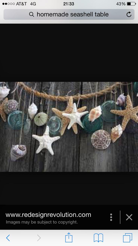 Seaside seashell beach garland