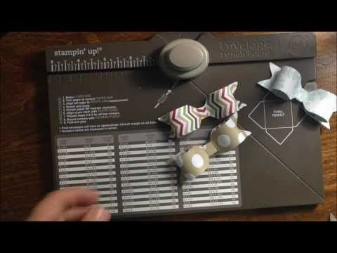 ▶ Stampin' Up! Envelope Punch Board Bows Simple Saturday Series - YouTube. Good video tutorial
