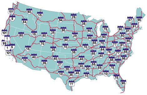 Us Highways Map My Blog - Us highway map