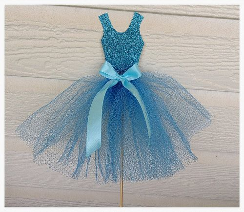Cinderella Princess Ballgown Cake Topper for Birthday by JeanKnee