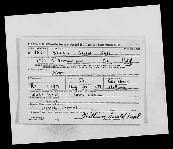 Bewijs van immigratie W.G.Kaal vanuit Groesbeek naar VS