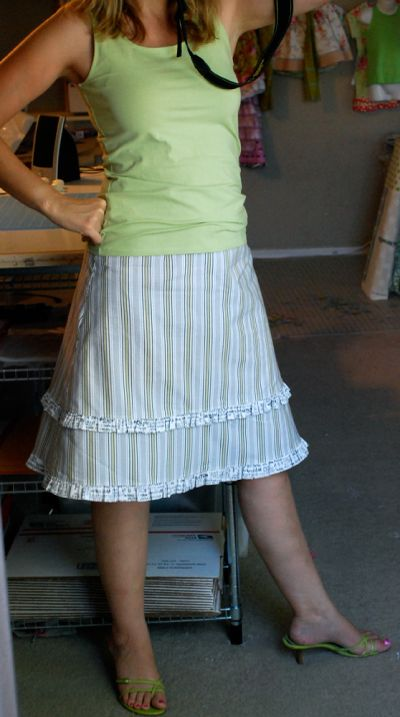 The Essential A-Line Skirt, Part 3: The Double Ruffle - Stop staring and start sewing!