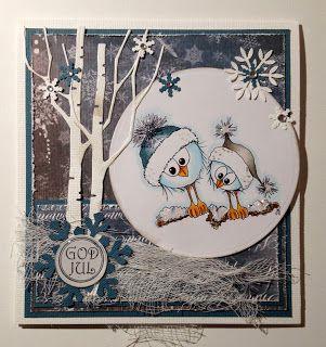 Kirstens Hobbyblogg: Enda et julekort...