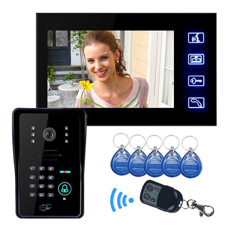 """137.69$  Buy here - http://ali0ls.worldwells.pw/go.php?t=32758099404 - """"7"""""""" LCD Video Door Phone Doorbell Bell Intercom Touch Key System Video Camera With Code Keypad Lock Remote Free shipping"""""""