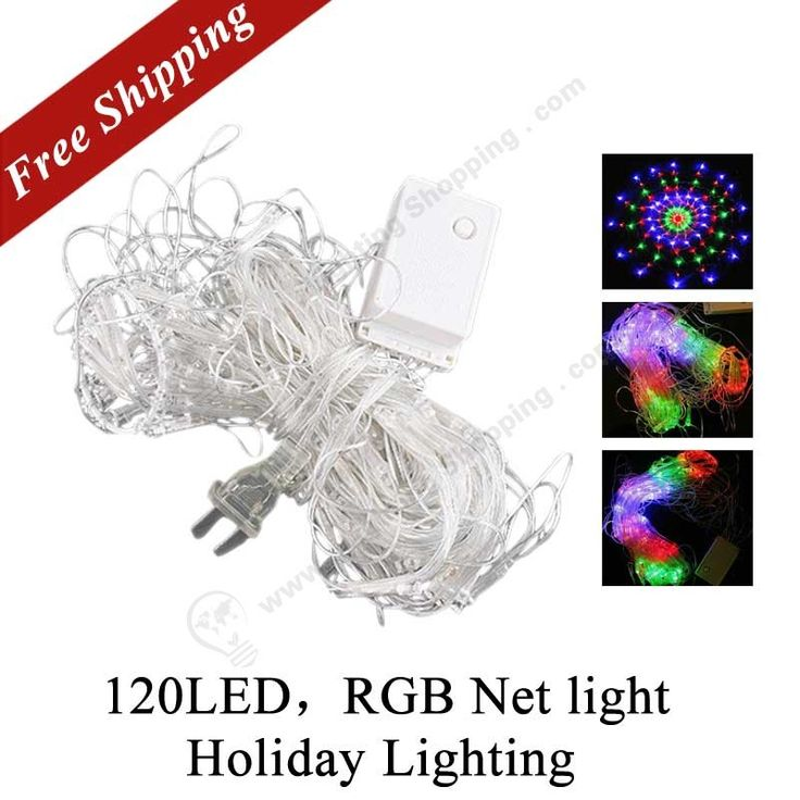 220V, #RGB Colorful, #Net #LED #Lighting, http://www.lightingshopping.com/colorful-rgb-net-light-with-120-led-bulbs-christmas-lights-party-wedding-led-lighting.html