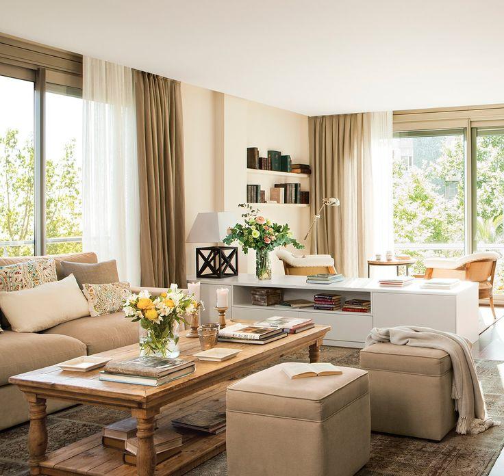 17 mejores ideas sobre cortinas de sala de estar en - Cortinas para salon comedor ...