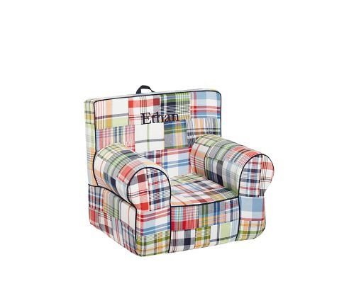 Love this chair for Grady's room!: Navy Madras, Gifts Ideas, Madras Chairs, Boys Rooms, Plaid, Pottery Barn Kids, Baby Boys, Pottery Barns Kids, Birthday Gifts