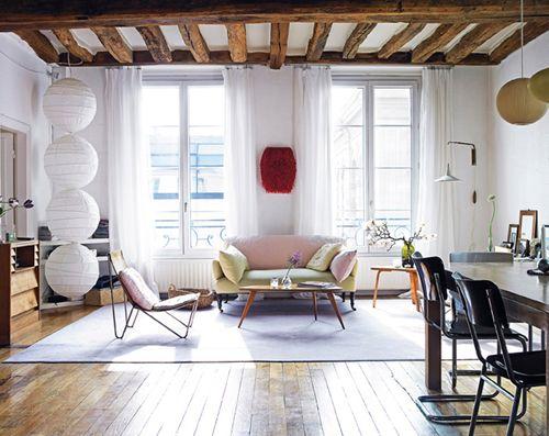 eclectic taste in an old loft