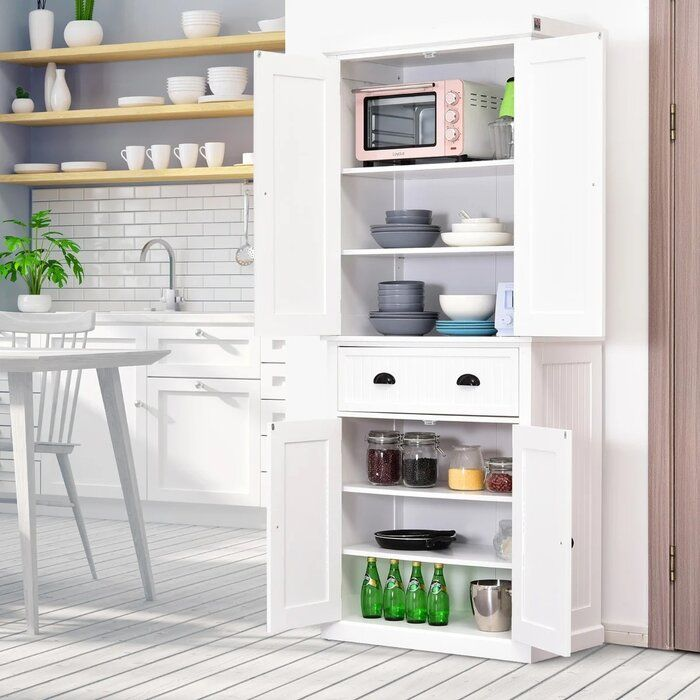 Stahl 72 Kitchen Pantry Reviews Birch Lane In 2020 Kitchen Without Pantry Kitchen Cabinets Decor Kitchen Cabinet Colors