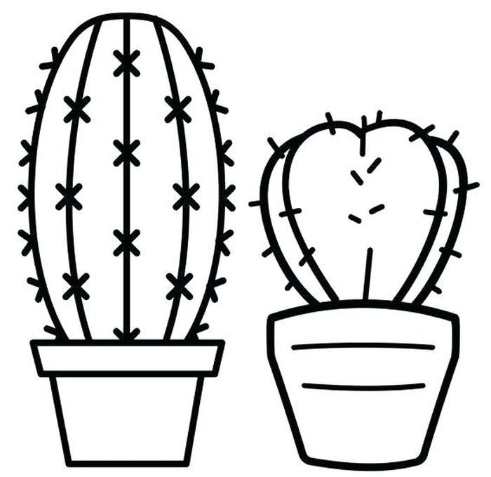 Beautiful Cactus Coloring Pages For Kids In 2020 Coloring Pages