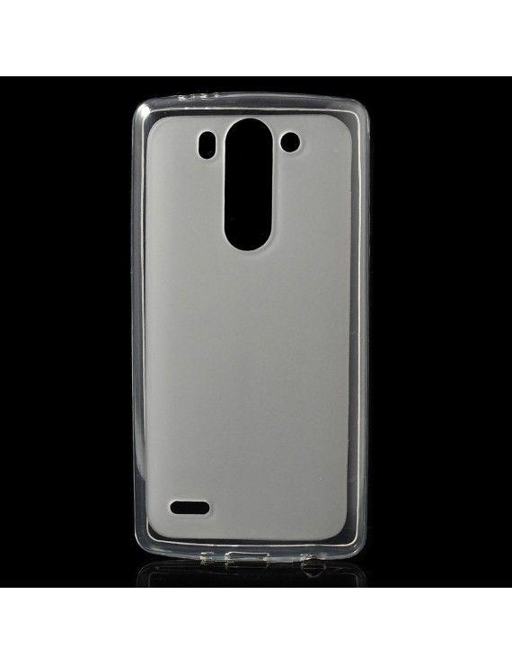 Θήκη Σιλικόνης TPU με Γυαλιστερά Άκρα για LG G3 S D725 - Λευκό