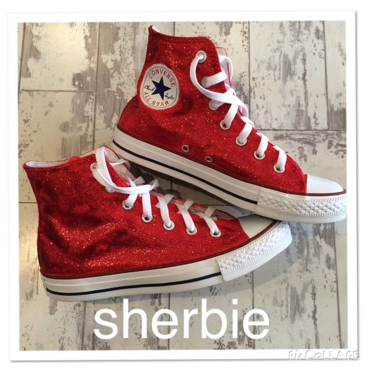 97+ Sparkly Red Glitter Converse All Star High Top Bride Shoes ... 8c05295ad8