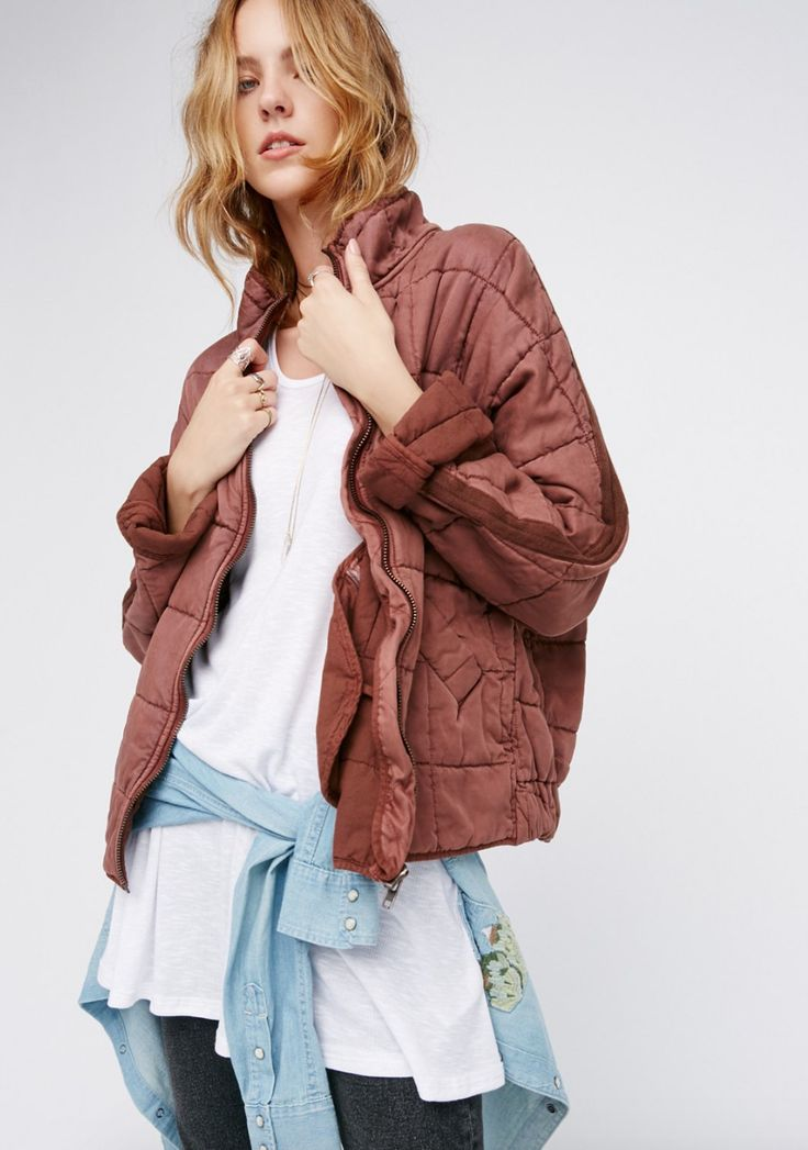 Free People Dolman Quilted Jacket