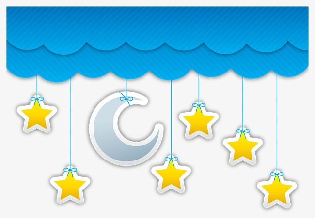 Blue Clouds Moon And Stars Moon Clipart Star Moon Png Transparent Clipart Image And Psd File For Free Download