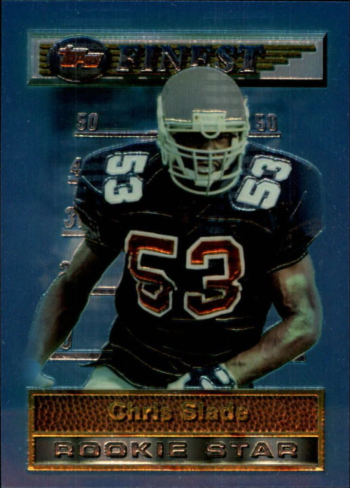 1994 Finest #24 Chris Slade New England Patriots NFL Football Card #Finest #NewEnglandPatriots
