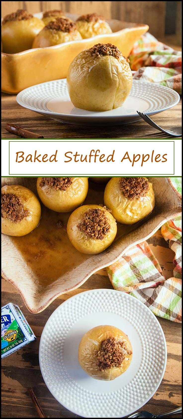 Baked Stuffed Apples @RealCaliforniaMilk #ad #spottheseal #sealsforgood