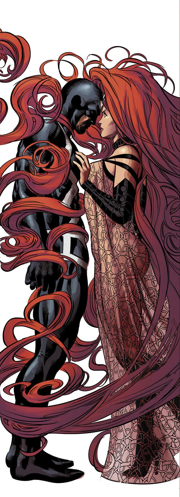 I feel a connect with Medusa and her crazy hair. I guess my brothers were right when they called me Medusa. Blackbolt and Medusa by Mike Deodato Jr.