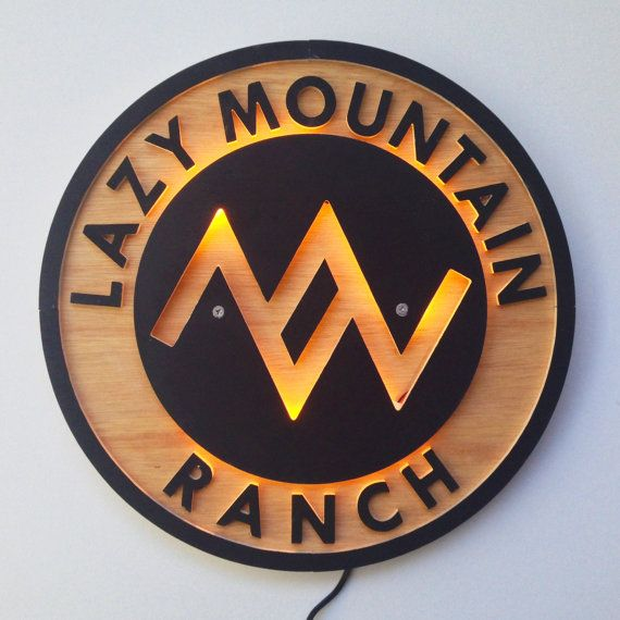 Custom Ranch Sign | LED Backlighting | Wall Art