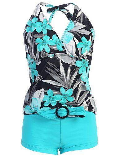 Swimwear Marina West Women's Halter Tankini & Shorts Swimsuit Set (2 Piece) $29.99 (save $19.01)