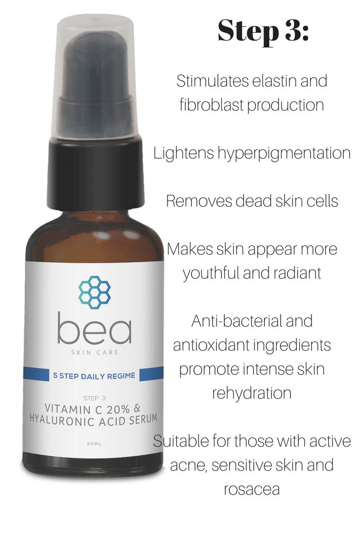 bea Skin Care Vitamin C and Hyaluronic Acid Serum with 20% Vitamin C  Vitamin C and hyaluronic acid are the building blocks of youth. Both anti-ageing and anti-inflammatory, this serum contains an incredible 20% vitamin C serum. A lightweight formula comprised of essential fatty acids, topical vitamin C and hyaluronic acid - a natural substance abundant in young skin - bea Skin Care's Vitamin C 20% and Hyaluronic Acid Serum lightens hyperpigmentation, minimises sun damage and decreases skin…