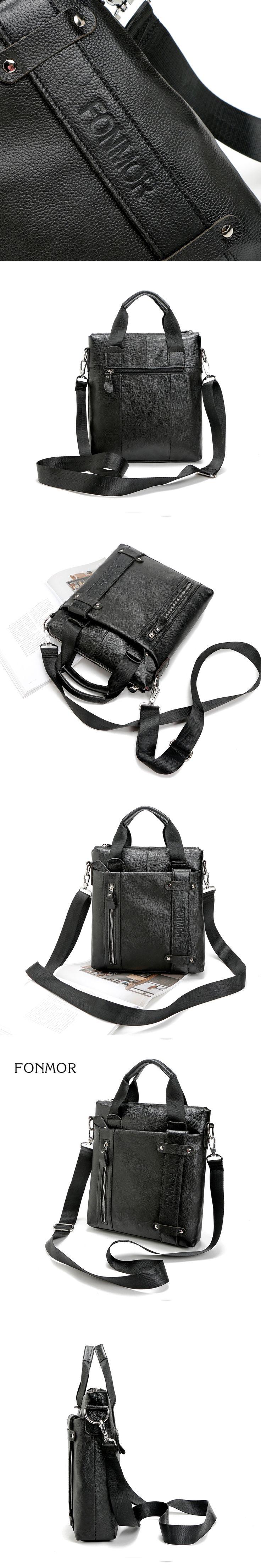 Fonmor Men Messenger Bags Luxury Handbags Genuine Leather Men Bag High Quality Shoulder Bag Casual Zipper Office Bags For Men