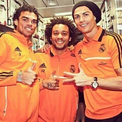 Pepe, Marcelo, and Ronaldo