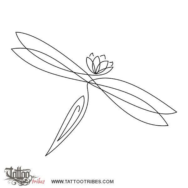 Tatuaggio di Libellula e loto, Rinascita tattoo - custom tattoo designs on TattooTribes.com