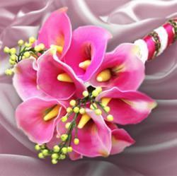 Handmade nylon wedding flower bouquet