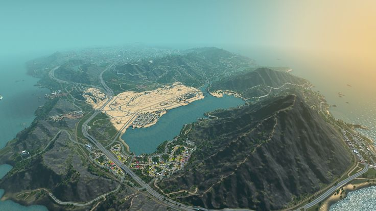 Somebody fully re-created Los Santos from GTA IV in the new Cities: Skylines game
