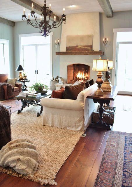 Pretty farmhouse style living room