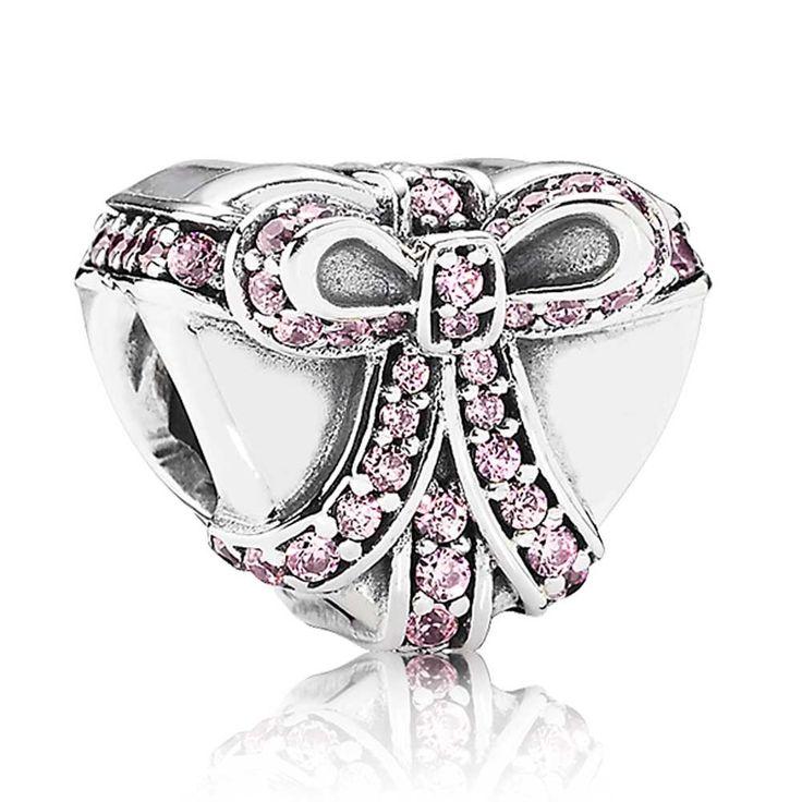 Pandora Pink Present Heart Charm 791423PCZ Buy Online