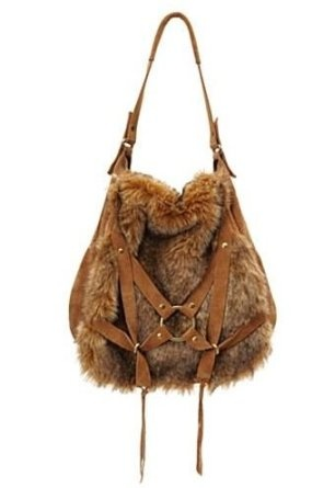 Lucky Brand Large Faux Fur Hobo
